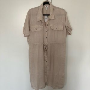 NWT Thyme Maternity Shirt Dress with Collar